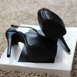 Shoes - Sexy Platform Cross Strap Peeptoe